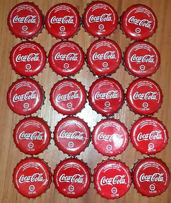 20 Cocacola Red Crowns kronkorken from Tanzania East Africa.