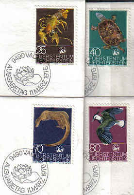BUY NOW   STAMPS from  LIECHTENSTEIN  1976  ANIMALS  25 - 80 (FU)  lot 122