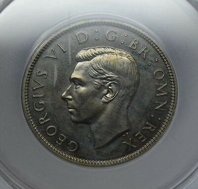 George VI 1950 two sillings proof graded by anacs PF 64 beutifull coin