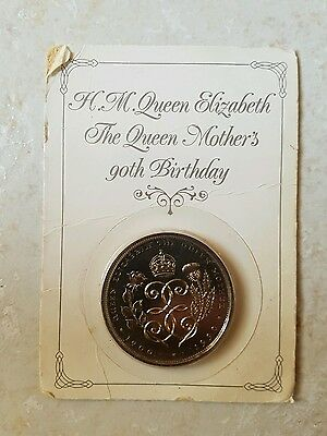 Royal Mint The Queen Mothers 80th Birthday Coin