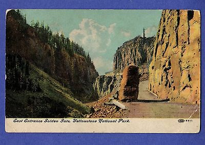 8371 EAST ENTRANCE Golden Gate Yellowstone National Park IPCN Postcard