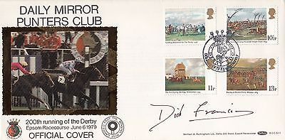 Dick Francis - Signed Epsom Derby Cover