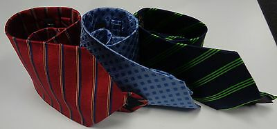 JOS A BANK AND BROOKS BROTHERS Striped And Patterned Lot 3 Ties Sz R SMA10116