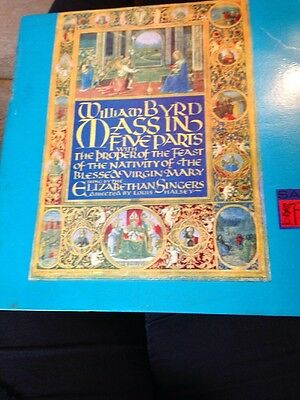 """Record 12"""" William Byrd Mass In Five Parts/the Proper Of The Feast The Nativity"""