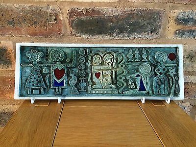 Magnificent Genuine Authentic 1964 Troika Love Plaque Designed by Leslie Illsley