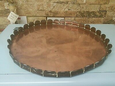 Antique copper tray.  Very heavy solid copper