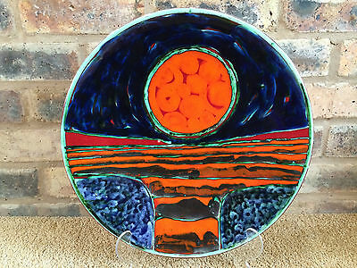 "Superb Vibrant 16"" Poole Pottery Charger by Iconic Artist Tony Morris"