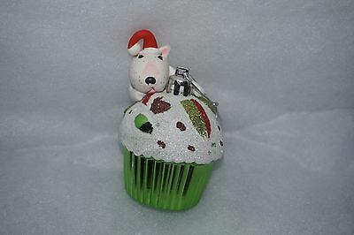 English Bull Terrier Christmas Bauble.