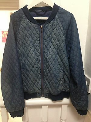 GAP Kids Quilted Denim Bomber Jacket Size XL 10-12yrs