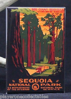 "Sequoia National Park Poster 2"" X 3"" Fridge / Locker Magnet. California"