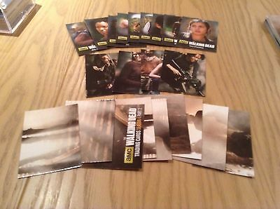 The Walking Dead Season 4 Pt 1 & Pt 2 complete set of insert cards (44 cards)