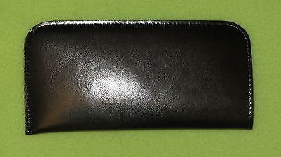 Glasses / spectacle soft case, pouch black, leather style, unisex