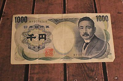 Japanese 1000 Yen Nippon Ginko Circulated