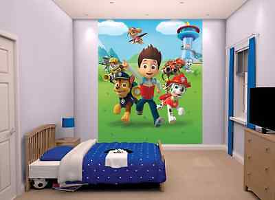 "Walltastic ""Paw Patrol"" Wallpaper Mural, Paper, 8 x 6.5 ft"