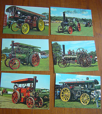 Postcards Traction Engines x 6