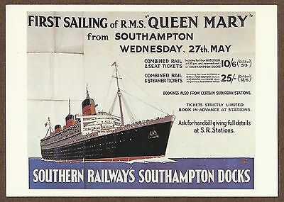 Modern Postcard Of 1936 Rms Queen Mary Poster