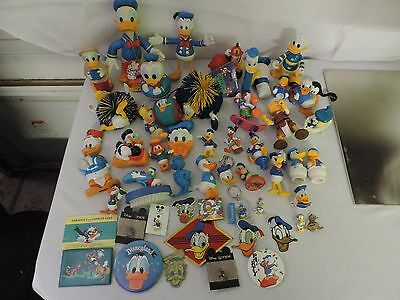 Donald Duck Collection- Vintage Donald Duck Collectible Toys Lot pins Disneyana