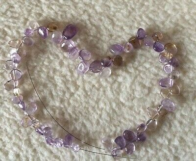 GGGP43 Amethyst Drop Style Nuggets Approx 9x8mm
