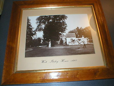 1900 West Ilsley House Stables Lambourn Vintage B&W Photo Horse Racing Channon