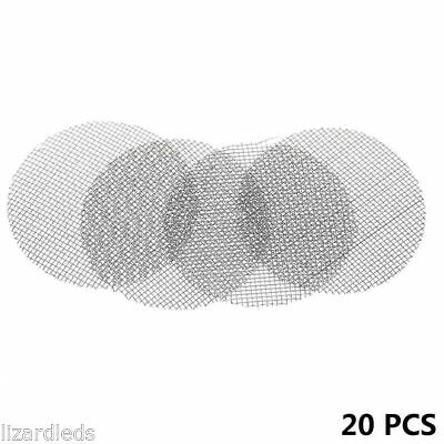 """20x Stainless Steel Tobacco Smoking Pipe Metal Wire Screens Filters 20mm / 0.74"""""""
