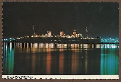 Postcard Of Rms Queen Mary In Long Beach