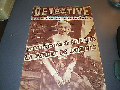 Ruth Ellis in Detective Magazine 1955 - in French - Signed by Ruth Ellis