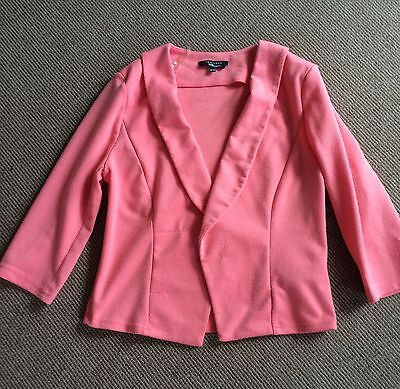 New Look 915 Generation Girls Coral Jacket. Age 12-13 Years