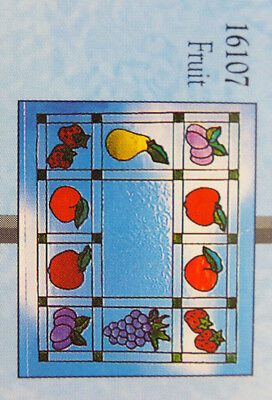 Gallery Glass Fruit Pattern to Fit Any Window