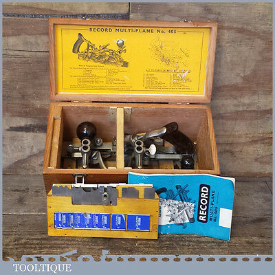 Vintage Boxed Record N0: 405 Combination Plough Plane – Good Condition
