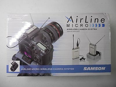 Samson Airline Micro Camera Mountable Wireless Lavalier Microphone System (A)