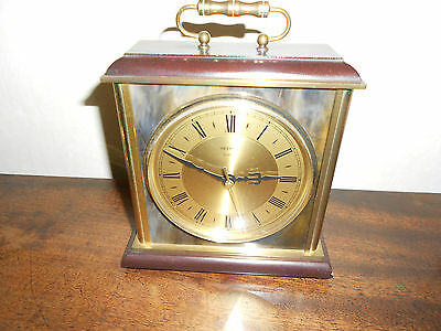 Heavy Vintage Metamec Mantle Clock Good ++ Very Good Working Order