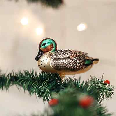 *Green-Winged Teal* Bird Duck [18098] Old World Christmas Glass Ornament- NEW