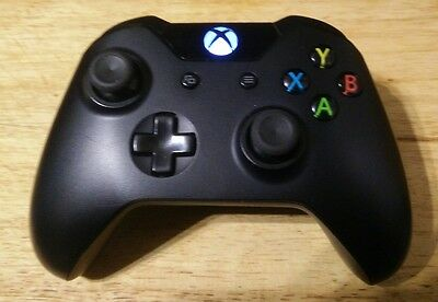 Xbox One official wireless controller Black with Battery pack.