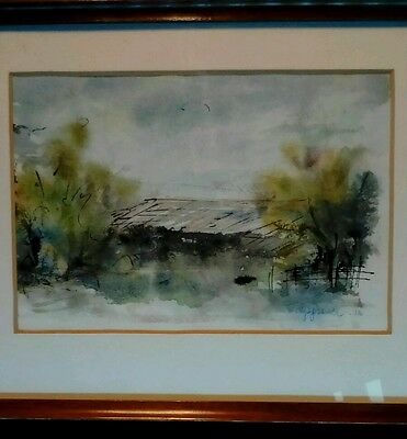 Vintage Impressionist Watercolour Painting. Signed and Dated.