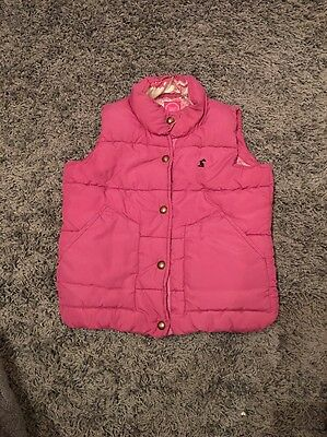 Child's Joules Gilet Body Warmer Girl 4-5yrs Pink Vgc