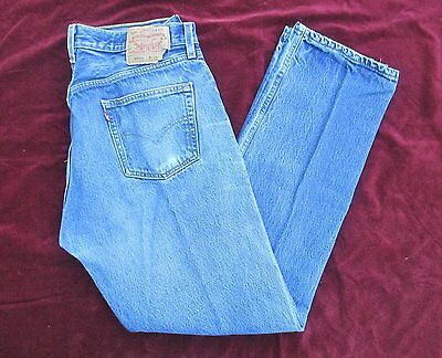 Vintage Levis 501 Xx Button Fly Denim Jeans 38X36 Nice Wear Red Tab Made In Usa