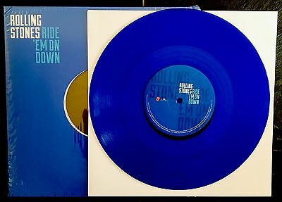 New French ROLLING STONES Rare 10' Blue Vinyl RIDE ´EM ON DOWN 2016. Sealed !!