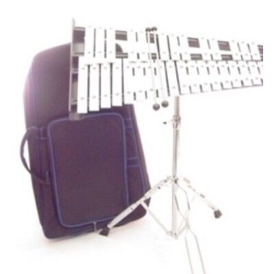 Xylophone Set 32 Keys, Stand, Case, Mallets, Pro Percussion Tuned FREE SHIPPING!