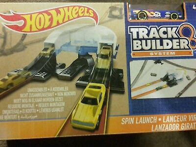 Hot Wheels Workshop Track Builder Spin Launch Track Extension NEW. Free P&P