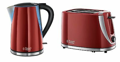 Russell Hobbs Mode Kettle And Toaster Set In Red