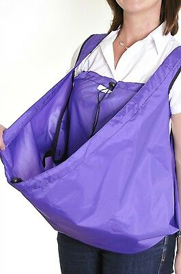 PackaPouch™ Wheelchair bag. Waterproof mobility equipment. Purple.