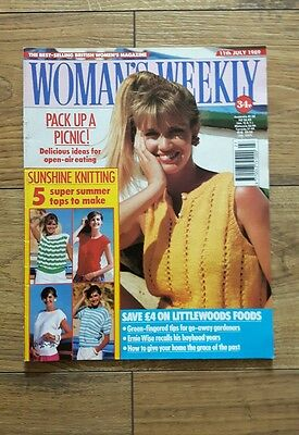 Woman's Weekly Vintage Magazine - 11th July, 1989