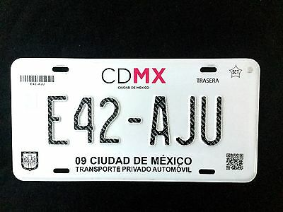 MEXICO CDMX MEXICO License plate Expired Graphic Background