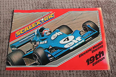 Rare Vintage Scalextric Electric Model Motor Racing 19Th Edition Catalogue