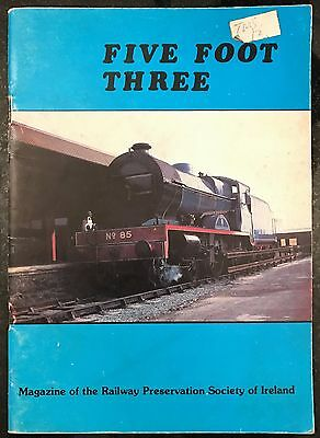 Five Foot Three Railway Preservation Society of Ireland Trains Booklet 1985/86