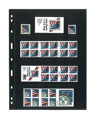 UNIPLATE Stock Sheets - Black - 4 stripes - 5 Sheets/Pack