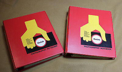 LOT OF 10 Vintage Kodak Photo Books How To Manuals with Binders