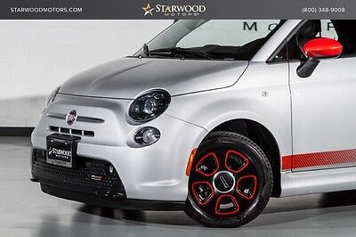 2013 Fiat 500 E Hatchback 2-Door 2013 Fiat 500e Leather Heated Seats Silver Black Red
