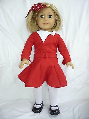 """American Girl 18"""" FIRST EDITION PLEASANT CO KIT + 3 outfits, CHRISTMAS, books"""