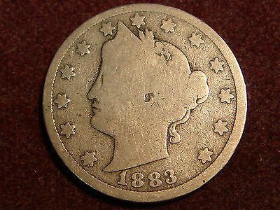1883 WC WITH CENTS Liberty Head V Nickel G